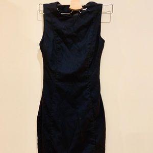 Deep navy H&M pencil dress